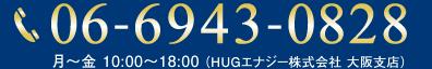 06-6943-0828月~金 10:00~18:00 (HUGエナジー株式会社 大阪支店)